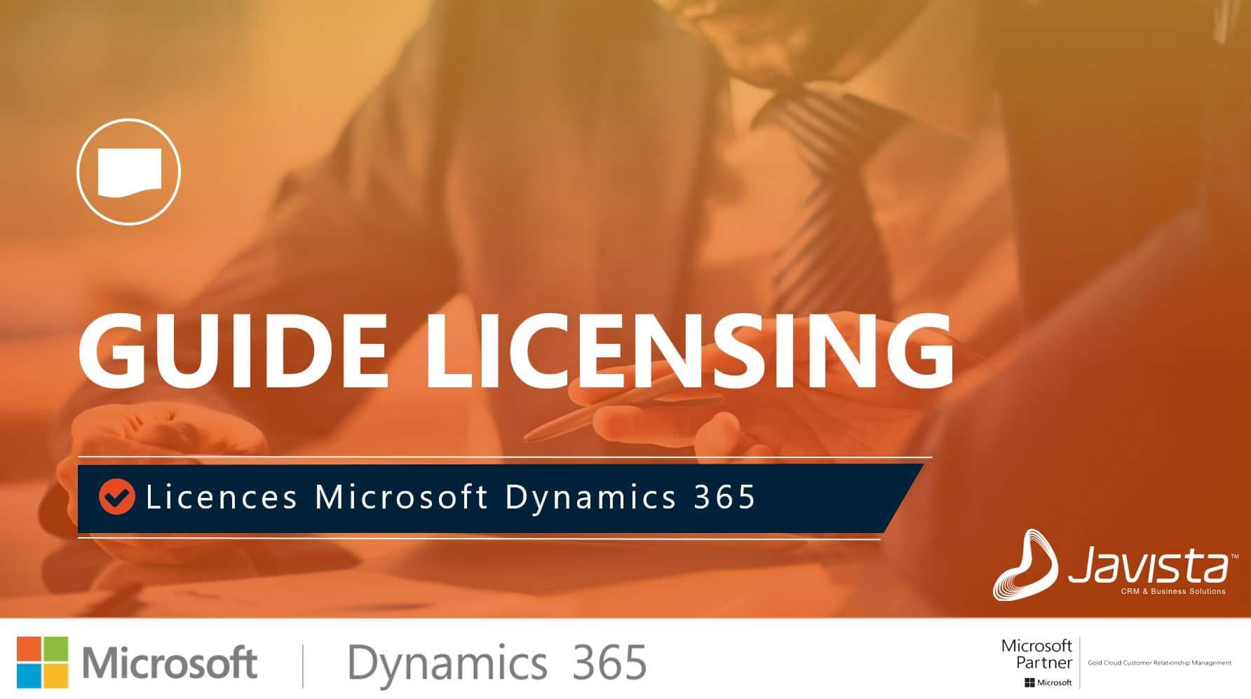 Licences Dynamics 365