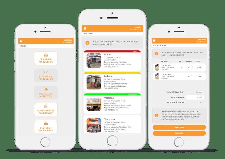 app commercial itinérant - Power Sales Rep