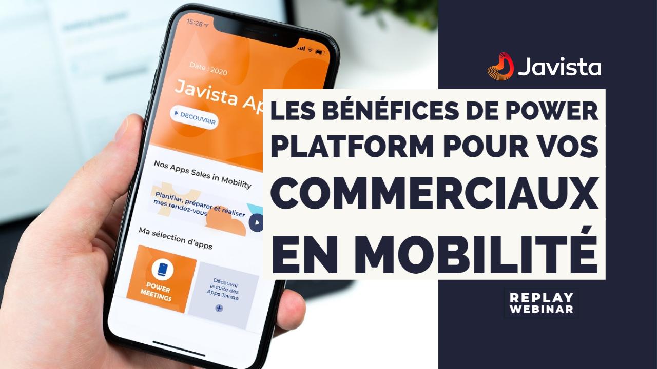 Webinar bénéfices de la power platform pour les commerciaux en mobilité