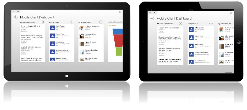 Microsoft Dynamics CRM 2013 mobile